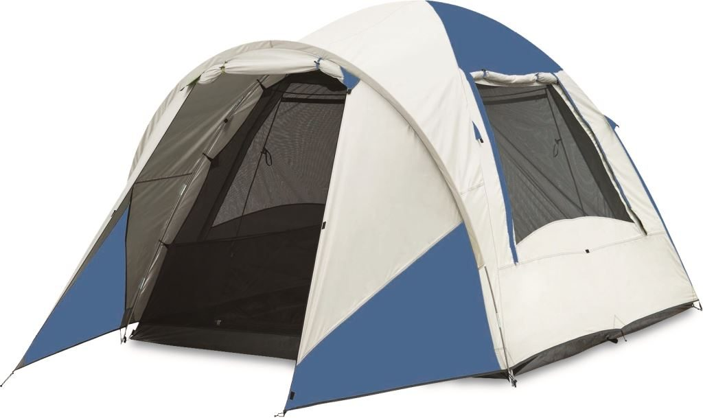 A dome-style tent